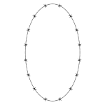 Barbed Wire Ellipse Frame Border