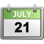 Calendar day icon July 21st