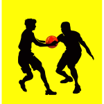 Basketball game scene silhouette vector image