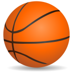 Basketball vector clip art