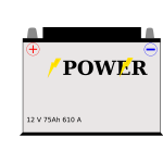 Car battery vector drawing