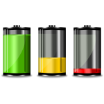 Three battery levels
