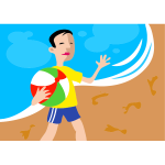 Beach boy vector image