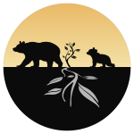 Bear and cub logo