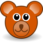 Funny bear head vector clip art