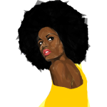 Beautiful Black Woman 2 Geometric No Background