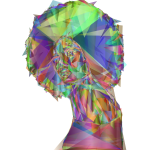 Beautiful Black Woman  Geometric Prismatic colourful