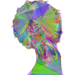 Beautiful Black Woman 2 Geometric Prismatic
