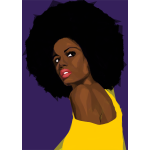 Beautiful Black Woman 2 Geometric