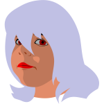 Woman with grey hair