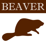 Vector image of brown beaver silhouette icon