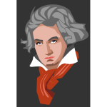 Vector illustration of portrait of Beethoven