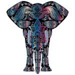 Bejeweled Floral Pattern Elephant