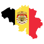 Belgium Map Flag With Coat Of Arms