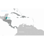 Belize map vector