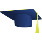 Vector illustration graduate hat