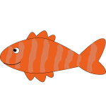 Orange striped fish vector illustration