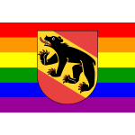 Bern symbol with rainbow colors