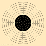 25-50m bullet shooting target vector illustration