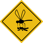 Beware of gnats sign by Rones