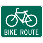 Vector illustration of bike route traffic sign