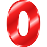 Effect Letters Alphabet red number zero