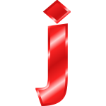 Effect Letters Alphabet red letter J