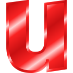 Effect Letters Alphabet red letter U