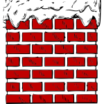 Chimney with snow vector graphics