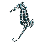 Stylized Seahorse Silhouette No Background