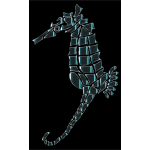 Stylized Seahorse Silhouette Clip Art
