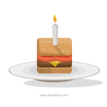 Birthday burger vector clip art