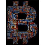 Bitcoin Logo Word Cloud