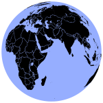 Black and blue globe