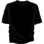 Black t-shirt vector illustration