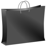 Black bag vector image