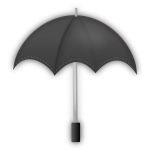 Vector clip art of grayscale umbrella