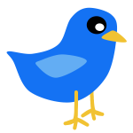 Simple blue bird vector image