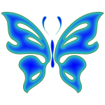 Blue Radiative Butterfly