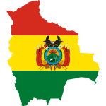 Bolivia flag map