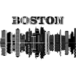 Boston Skyline Typography