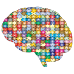 Brain Jigsaw Puzzle Prismatic With Stroke 2