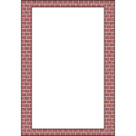 Vector drawing of layered bricks border