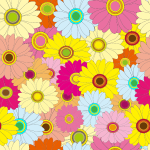 Bright Multicolored Floral Background