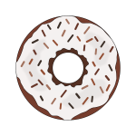 Brown donut image
