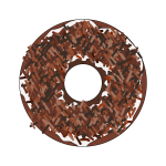 Brown sprinkles donut