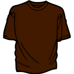 Brown t-shirt vector drawing