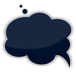 Vector image of cloud shaped talking bubble