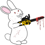 Bunny With Chainsaw Woofer