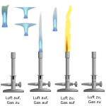 Vector illustration of gas burners set